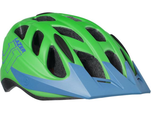Lazer J1 Helmet Juniors matte green-blue